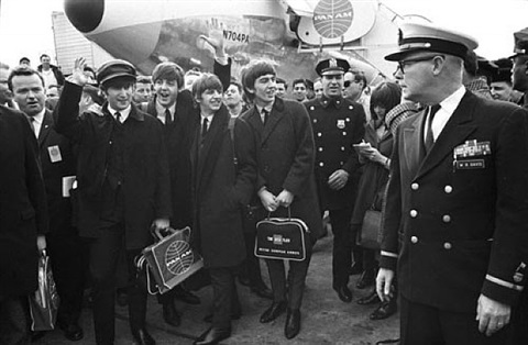 the beatles arrive, john f. kennedy airport february 7, 1964 by bill eppridge