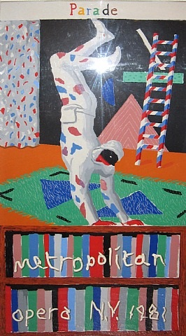 parade, metropolitan opera, n.y. by david hockney