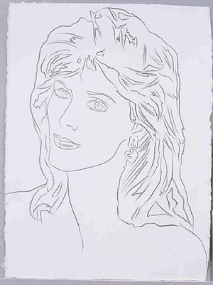 unidentified woman by andy warhol