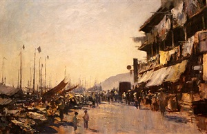 the hong kong waterfront by edward seago