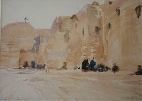 the church of the nativity and the armenian monastery bethlehem by john singer sargent