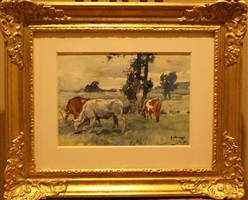 cattle grazing by sir alfred munnings