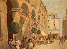 les arcades, dieppe by william lee hankey