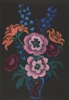 päonien, feuerlilien und rittersporn by gabriele münter