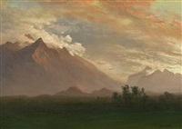 mountain landscape by albert bierstadt