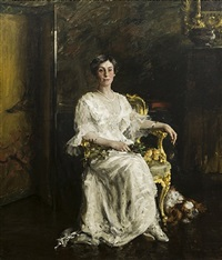 portrait of a lady (mrs. eldridge reeves johnson) by william merritt chase