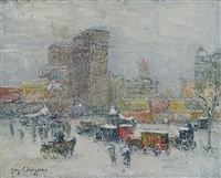 north east wind, snow storm, new york by guy carleton wiggins