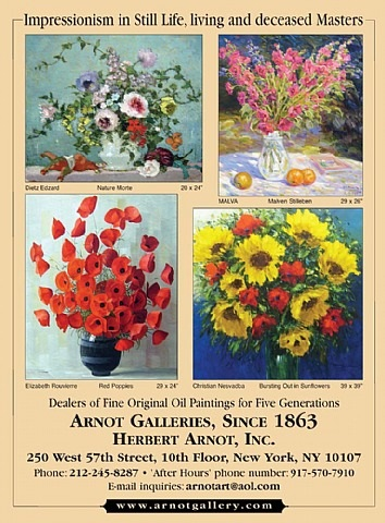 impressionism in still life, living and deceased masters