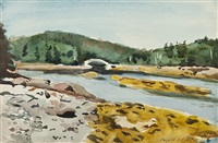 cove bridge by fairfield porter