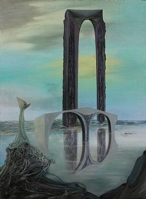 la balance – rêve interprété, vue gothique (the balance – interpreted dream, gothic sight) by wolfgang paalen