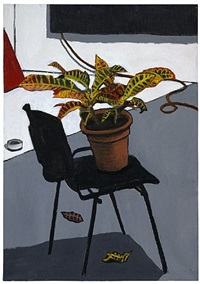 chair with plant by david reeb