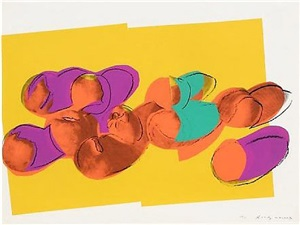 space fruit-peaches (f&s ii.202) by andy warhol
