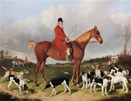 lord gill with the cheshire hounds by henry calvert
