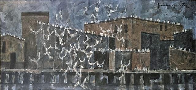 quarrelling gulls by fletcher martin