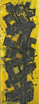 faw836, abstract yellow by frank avray wilson