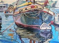 the angelique, camden harbor by michael vermette