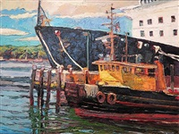 boats of castine by michael vermette