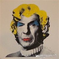 spock monroe paint splash by mr. brainwash