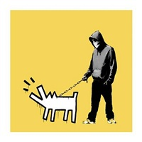 choose your weapon (yellow) by banksy