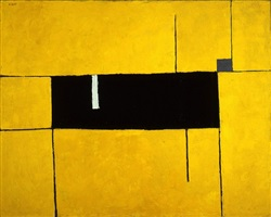 black, yellow, and white composition by william scott