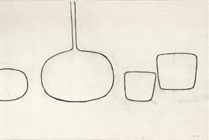drawing towards painting by william scott