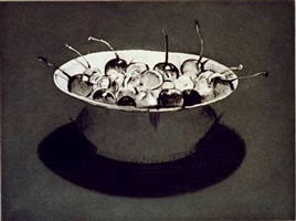 dark cherries by wayne thiebaud
