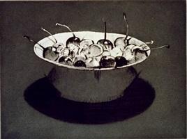 dark cherries by wayne thiebaud