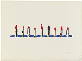 lipstick row by wayne thiebaud