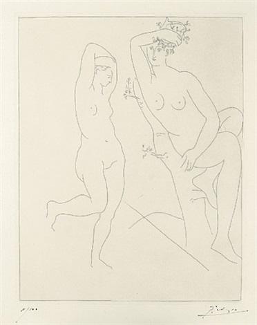 deux femmes nues dans un arbre by pablo picasso