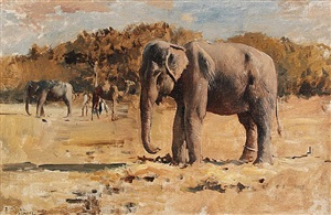elephants of bekanir by edwin lord weeks