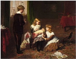 the sick doll by william powell frith