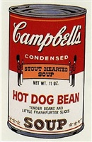 soup can ii (hot dog bean) by andy warhol