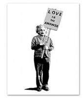 love is the answer by mr. brainwash