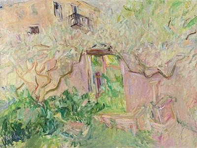 wisteria by wolf kahn