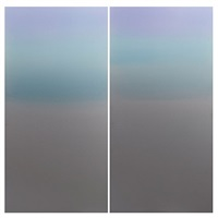 blue purple diptych by miya ando