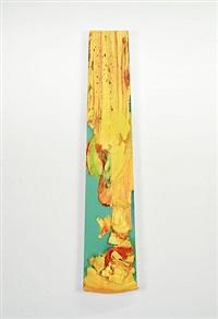 untitled (yelloworangeteal) by leslie wayne