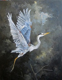 heron - untitled by john alexander