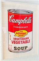 soup can (vegetarian vegetable) by andy warhol