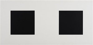 two blacks and white by ellsworth kelly