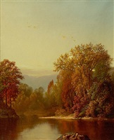 river landscape by william mason brown