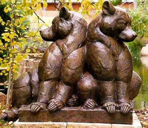 """bear pause"" monument #1/12 by dan ostermiller"