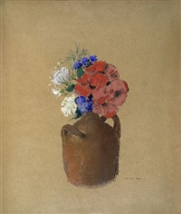 petit bouquet tricolore by odilon redon