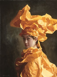 orange paper bride -- a ray of noble light by zeng chuanxing