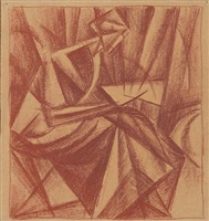 woman reading by aleksandr konstantinovich bogomazov