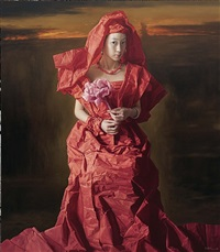 red paper bride -- pink rose by zeng chuanxing