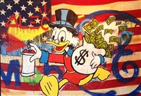 scrooge flag by alec monopoly