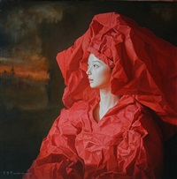 red paper bride -- sunset by zeng chuanxing