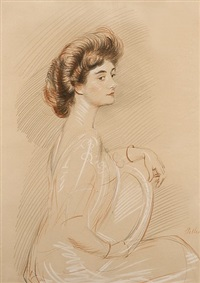 portrait of a woman by paul césar helleu