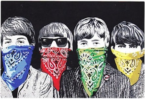 beatles bandidos by mr. brainwash