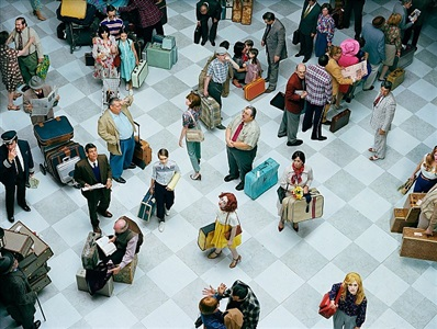 crowd #7 (bob hope airport) by alex prager